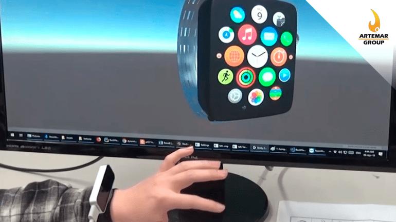 Esta pulsera tiene una cámara infrarroja que reconoce los gestos de los dedos en el dorso de la mano
